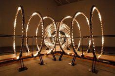 Spiraling Light Portal Made of 960 Bulbs - My Modern Metropolis   http://www.mymodernmet.com/profiles/blogs/carsten-holler-y-lightbulb-installation