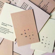 maeandmany #businesscards #branding