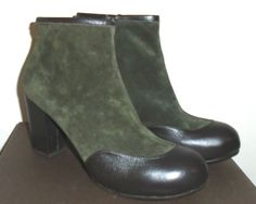 CHIE MIHARA TAZMAR WOMENS BROWN LEATHER & SUEDE ANKLE BOOTS 42 / 10 #ChieMihara #AnkleBoots