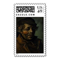 Head of a Peasant by Vincent Van Gogh Postage Stamps