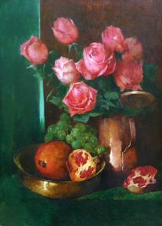 Emil Carlsen Still Life with Roses and Pomegranates Early 20th century