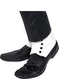 Copri scarpa Gangster, accessorio per costume di carnevale. Travestimento Michael Jackson. Smiffy's 33459