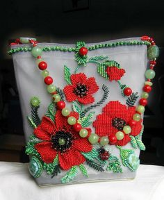 18 Beautiful beaded jewelry by Marina Samotolkova Beaded Boxes, Beaded Purses, Beaded Jewelry, Knitted Poppies, Unique Handbags, Handmade Purses, Embroidered Bag, Vintage Purses, Vintage Hats