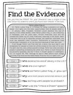 My kids love highlighting the evidence to find the answer!  $