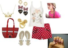 """""""Minne Mouse"""" by tatasaleh ❤ liked on Polyvore"""