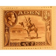Aden, King George VI Camel Corps 3/4 A 1939 mint hinged