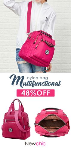 300be5b6137d Multifunctional Waterproof Nylon Capacity Backpack Shoulder Bags Crossbody Bags  Handbag For Women  waterproof  nylon