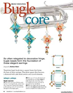 BUGLE CORE Earrings - FREE Tutorial by Barbara Klann. Page 1 of 2