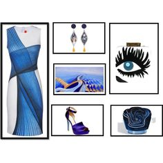 blue eyes by alvufashionstyle on Polyvore featuring arte