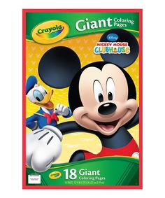 mickey mouse clubhouse giant coloring pages