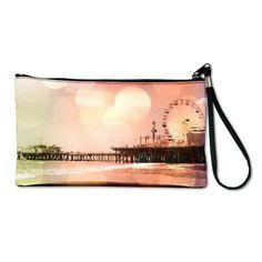 Sparkling Pink Pier Clutch Bag on CafePress.com