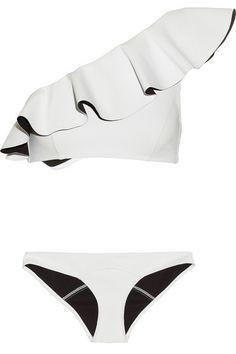 Lisa Marie Fernandez Arden ruffled bonded bikini