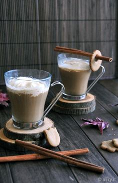 Gingersnap Cafe au Lait--The perfect hot beverage to accompany your Holiday Desserts.