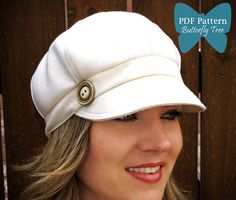 Newsboy Hat Sewing Pattern - Reversible Unisex Adult Sizes - PDF