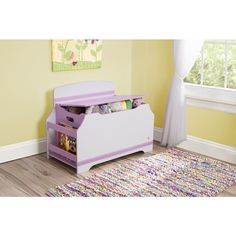 Toy Box Pink with Jack and Jill Design Deluxe Toy Box with Book Rack Wood. With a lot of space to store toys of differing shapes and sizes, this toy box includes a book retire on top for extra stockpiling. The strong form comprises of adjusted corners and smooth edges for security. Keep your children safe and their room composed with this white and pink toy box. Presentable to place either in living room, nursery room, bedroom or in play area. This is easy to assemble organizer traditional…