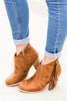 These fashion fringe booties are super cute! They feature a longer fashion side fringe and come in 3 different styles.