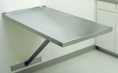 "Veterinary Wall Mount Exam Table 45"" x 22"" exam top 1″ back splash protects wall from water damage Product Number: D400-20"