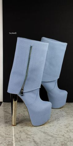 White Black Detail Knee High Boots – Tajna Club White Thigh High Boots, White High Heels, Black Ankle Booties, Black Boots, Knee High Platform Boots, High Heel Boots, Heeled Boots, Leather Over The Knee Boots, Lace Up Boots