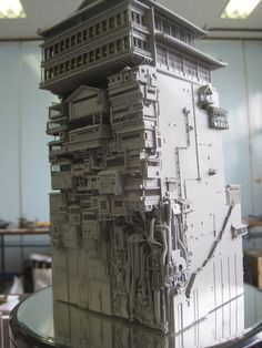 Model of Bath House, 'Spirited Away'.
