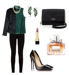 """""""Untitled #508"""" by mariafilomena471 ❤ liked on Polyvore featuring 7 For All Mankind, H&M, Trina Turk, Christian Louboutin, Dolce&Gabbana, Christian Dior, Kate Spade, Chicwish and Betsey Johnson"""