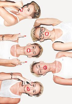 I love white and red together. Miley does this style a lot.