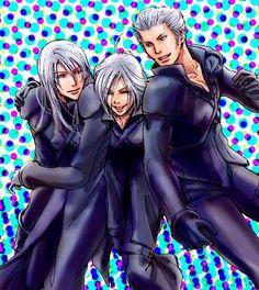 Anime Kadaj | SQUARE ENIX, Final Fantasy VII, Yazoo, Kadaj, Loz, Spotted Background