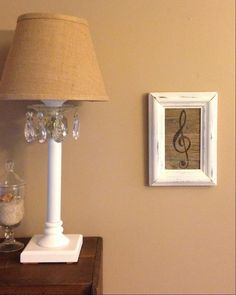 Treble and bass clef painting up-cycled from a vintage picture frame reusing weathered reclaimed lumber by MusicAsArtBySarah on Etsy
