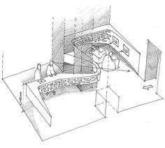 Centrala - Tourist Information Centre Exibition Design, Tourist Center, Information Architecture, Entrance Design, Moleskine, Interior Sketch, Tourist Information, Exhibition Space, Commercial Design
