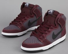 NIKE SB DUNK HIGH DEEP BURGUNDY-BLACK...HARD!!!!
