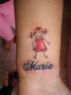 Tattoo Bonequinha Palito