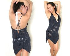 Ravelry: Granny Square Swimsuit Beach Cover Up pattern by Leah Spell $6.00