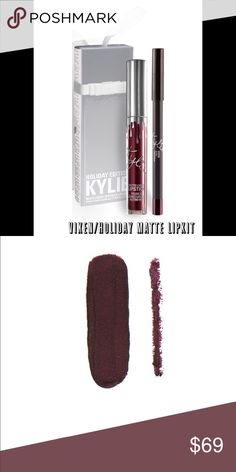 💋Nip/Nip/Kylie's Vixen Holiday MATTE Lipkit 💋/Nip/Kylie's Holiday MATTE Lipkit VIXEN! Just received & ready for holiday giving! This special shade is infused with diamond powder and packaged in limited edition silver packaging for the holiday season. Vixen is a blackened vampy plum. You could hang on the tree or use as a stocking stuffer?? Perfect for that Kylie's Girl in your life! Packing is BEAUTIFUL in a special Silver package can hang if u desire! Luscious & long wearing! Kiss Proof…
