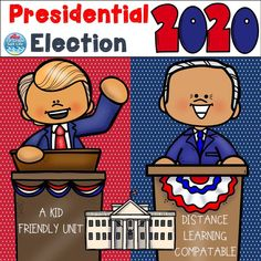 Jun 22, 2020 - Presidential Election 2020 - This fun kid friendly unit will help student to better understand this election and the election process. Fun colorful graphics and real pictures will engage them! This unit is also very compatible for distance learning and easy printing. Included are:Poster about Bide... The New School, New School Year, Election Process, Comprehension Activities, Classroom Games, Child Friendly, Back To School Activities, Presidential Election, Best Teacher