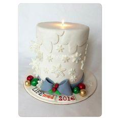 LİFEMED için tasarladığımız Mum şeklinde yıl başı pastamız