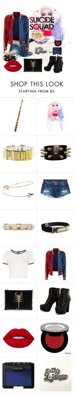 """Harley Quinn SS"" by yessyzc ❤ liked on Polyvore featuring 3x1, Valentino, Balmain, Topshop, Lime Crime, Shany and NARS Cosmetics"