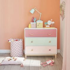 An Adorable Baby's Pretty Nursery Makeover - Part 1 Cute Furniture, Upcycled Furniture, Furniture Makeover, Painted Nursery Furniture, Furniture Dolly, Plywood Furniture, Furniture Design, Chest Of Drawers Decor, Chest Of Drawers Makeover