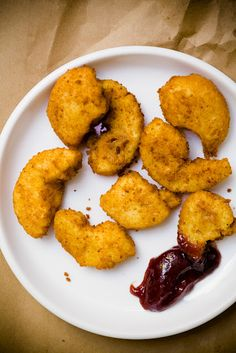 Cupcake Nuggets: Too funny! They look like chicken nuggets but are actually cupcake pieces, breaded and fried and served with jam.