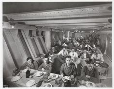 S.S. Normandie, Crew Quarters Dining Room, ca. 1935