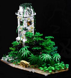 The Colonel has found a real vantage point within this overgrown Meso-American watchtower as he manages to catch sight of the elusive jaguar. This build by Ayrlego uses a nice mix of LEGO flora to create a little jungle  scene — even the sprue from the three-leaf plant is utilised and becomes a vine winding its …