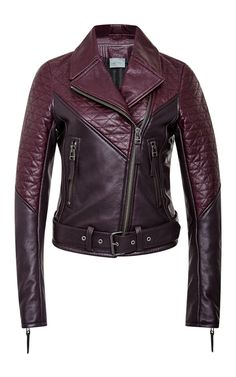 Two Tone Quilted Motorcycle Jacket by Maiyet for Preorder on Moda Operandi