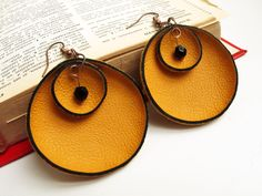 Katrinshine: New leather earrings