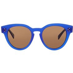 Céline Thin Preppy Sunglasses (1.190 BRL) ❤ liked on Polyvore featuring accessories, eyewear, sunglasses, thin sunglasses, round glasses, cat eye sunglasses, cat-eye glasses and round sunglasses