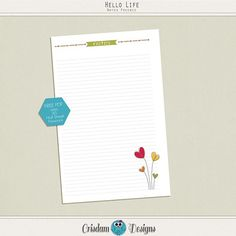 Free Notepaper Printable {A5, half sheet and personal size PDF}