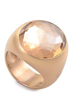 Vintage Pomellato Naciso Satin Crystal Ring