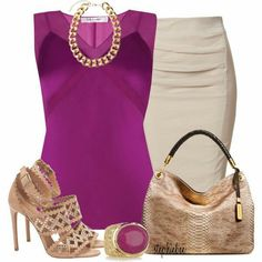 Hot ootd magenta top and khaki bottom and accessories! !!*****