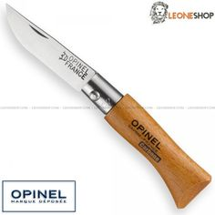 "OPINEL No2 Folding Knife O-N2, traditional france cutlery, opinel pocket knives with blade of XC90 Carbon Steel of high quality Satin Finished - HRC 54/56 - Blade lenght 1.4"" - Thickness 0.08"" - Handle made with Beech Wood, a very elegant wood, hard, compact and with very light color - Steel Bolsters - Traditional Lock system - Overall lenght 3.2"" - OPINEL Company Founded in 1890 by Joseph Opinel - A Opinel knife really exceptional with quality materials and an excellent French design..."