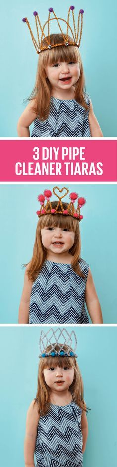 How to make pipe cleaner crowns - Today's Parent Make A Crown, Crown For Kids, Girls Crown, Diy Crown, Diy For Kids, Cool Kids, Crafts For Kids, Queen 90th Birthday, Girl Birthday