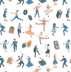 Dancers - James Lewis Illustration