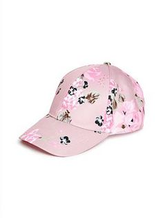 Floral Baseball Hat at Guess