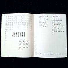 214 vind-ik-leuks, 6 reacties - Design by Thildra (@designbythildra) op Instagram: 'So it begins... New year and a new month. #inspiration #monthlyspread #bulletjournalmonthlylog…'